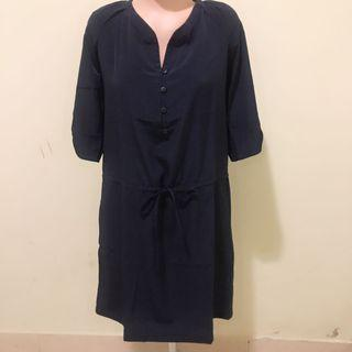 Navy Dress Mango
