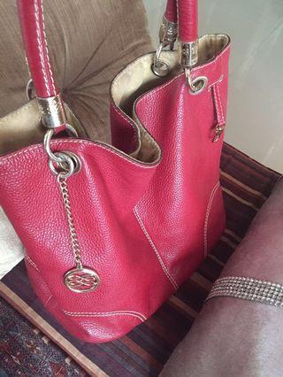 Lancel All Leather Bag