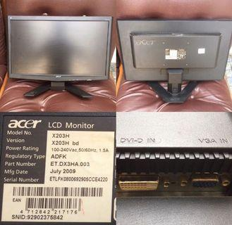 Acer Monitor wide