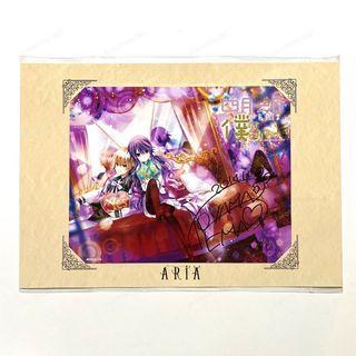 ARIA 日本 AGF 限定 親筆 簽名 大張 寫真 複製原畫 遠山繪麻 四月一日同學與我的祕密同居 少女漫畫