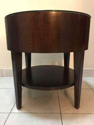 Wood Side Table Vintage antique meja