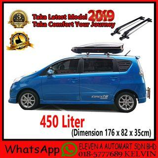 Taka Roofbox MD-450D Slim Glossy Roof box With Roof Rack