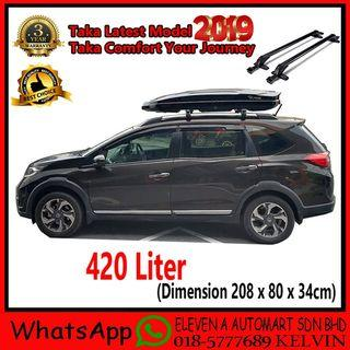 Taka Roofbox MD-420D Slim Glossy Roof box With Roof Rack