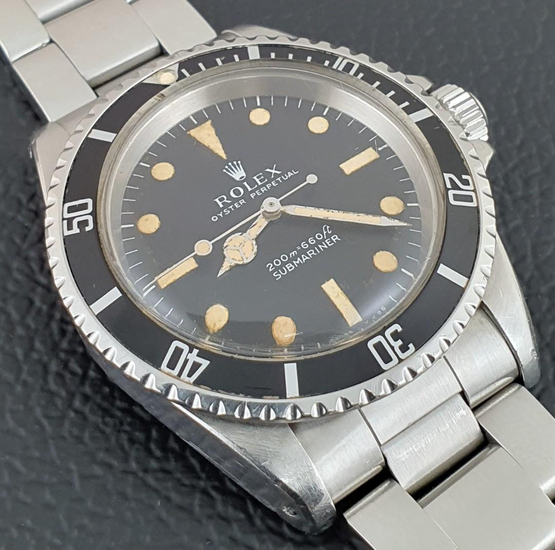 1968 Vintage Rolex Submariner 5513 with Meters First Dial