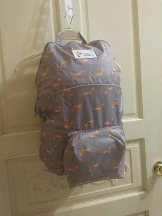 正韓 Korea 全新防水抗污大容量後背包 可折疊後背購物包