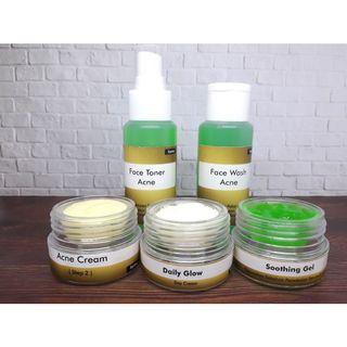 Paket perawatan wajah acne jerawat krim siang malam cream dokter farmasi