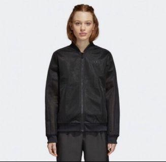 Adidas網狀透視休閒外套