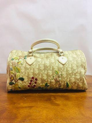 Christian Dior Diorissimo canvas floral embroidered