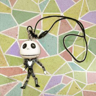 東京迪世尼迪士尼日本限定絕版聖誕夜驚魂傑克吊飾項鏈手腳可動公仔玩具掛飾可愛蝙蝠正版日版骷髏頭玩具