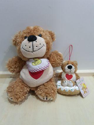 Suzy's Zoo Bear soft toy and plush keychain