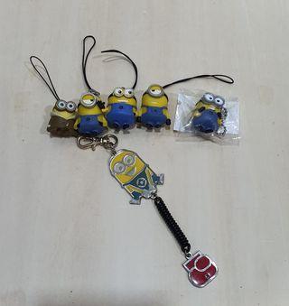 Minion assorted phone straps set