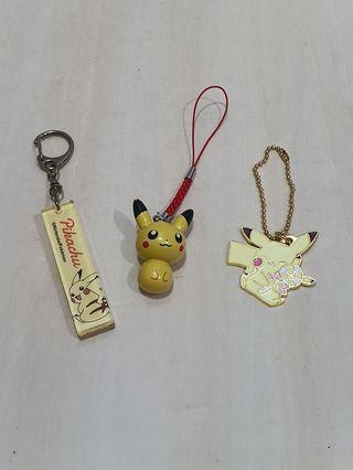 Pikachu assorted keychains set