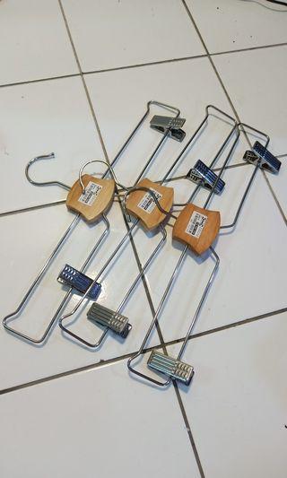 Ikea metal hanger with clips