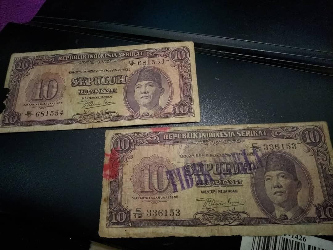 2 pcs 10 rupiah RIS