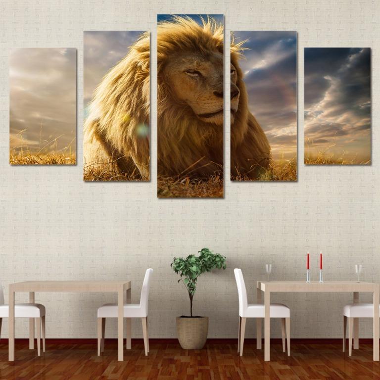 5 Panel Lion King Canvas Prints😊