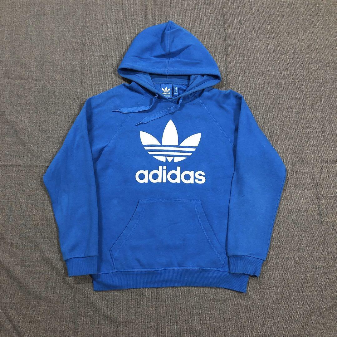Adidas Originals 古著藍色帽Tee (L)