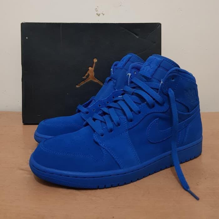 AJ 1 Blue Royal Suede