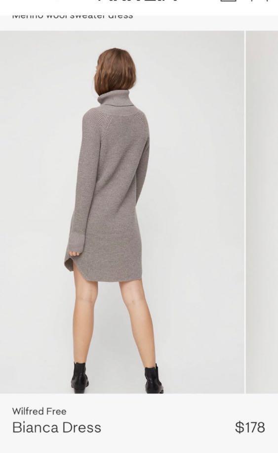 Aritzia Bianca wool sweater dress size xs