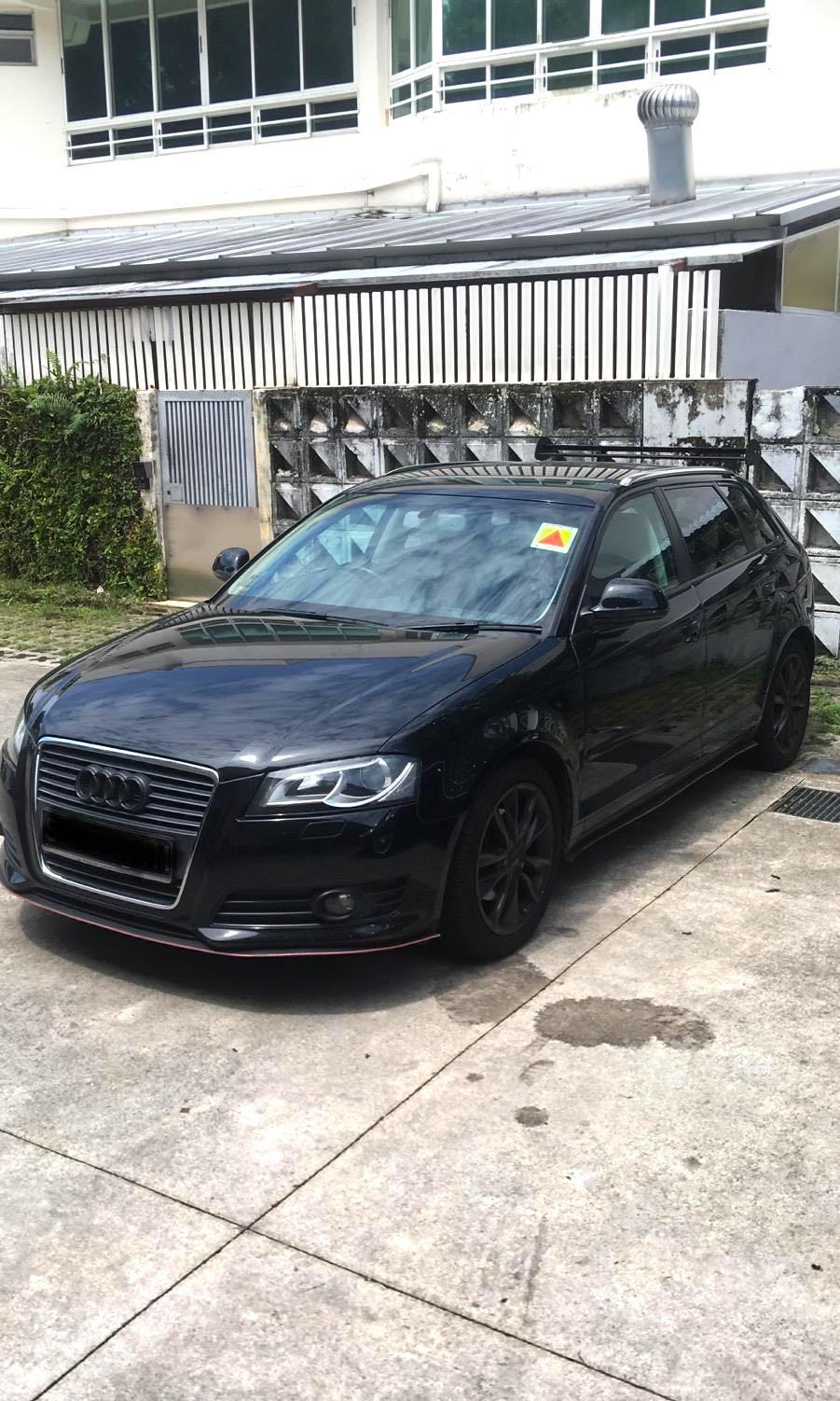 Audi A3 hatchback sportsback sporty four door sedan in black