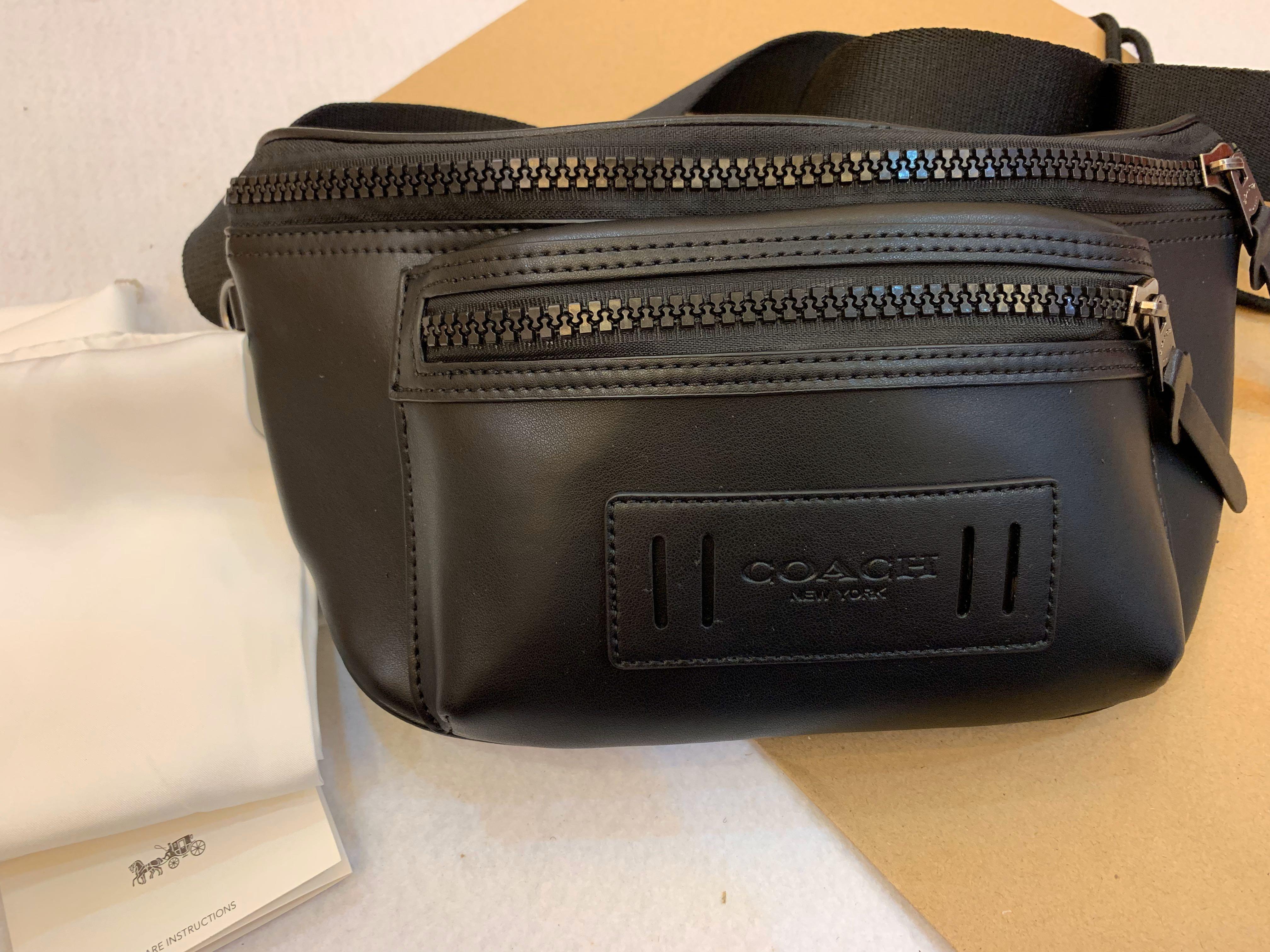 Authentic coach 75776 men belt bag crossbody bag sling bag