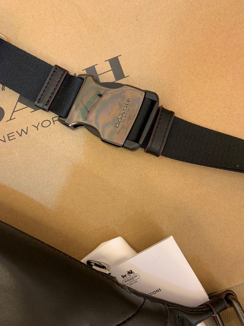Authentic Coach men chest bag belt bag crossbody sling bag 76799
