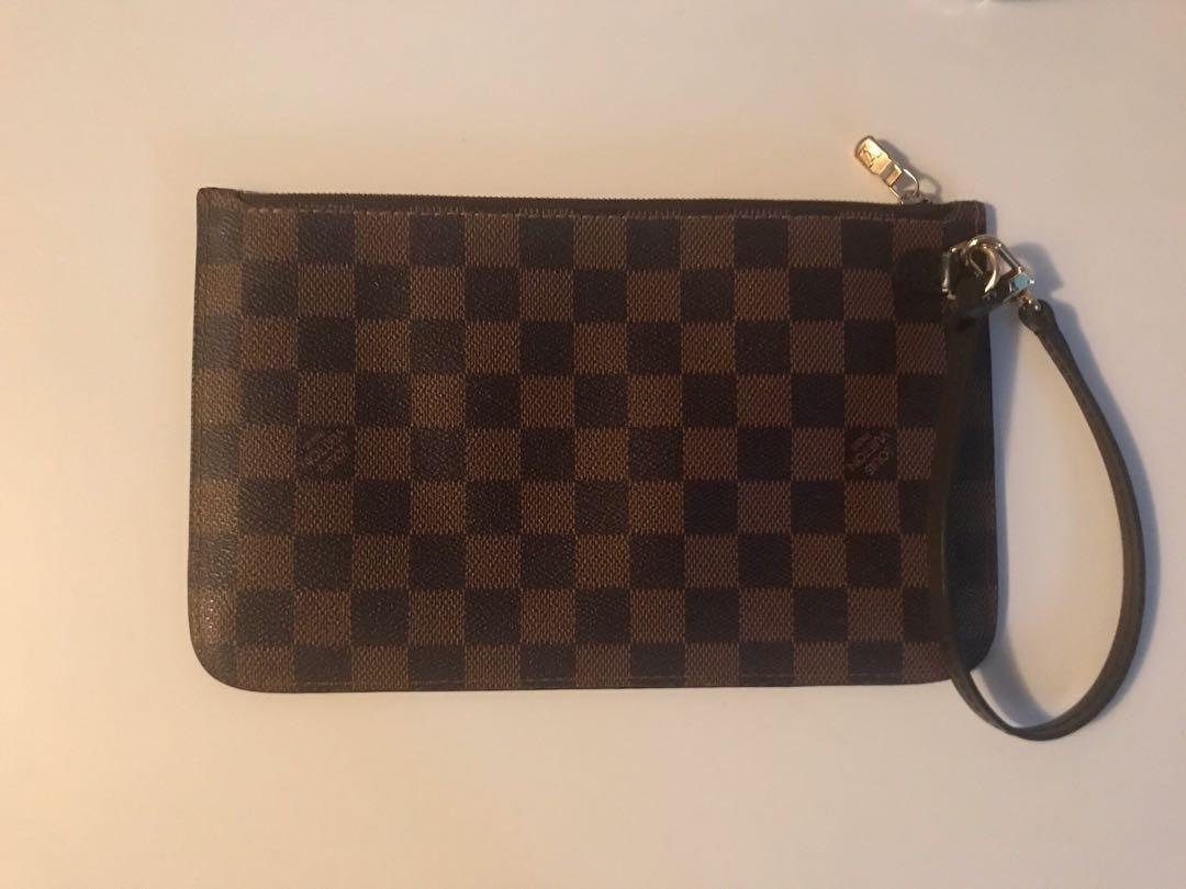 Authentic Louis Vuitton Neverfull Pouch With Cherry Interior