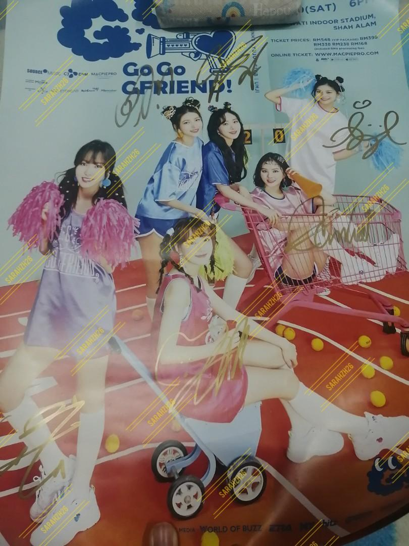 AUTOGRAPH GFRIEND POSTER GGG ASIA TOUR KL MALAYSIA
