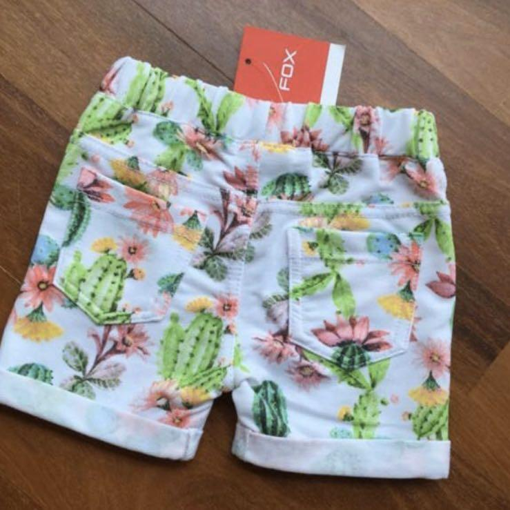 BNWT Fox Floral Shorts 12-18m