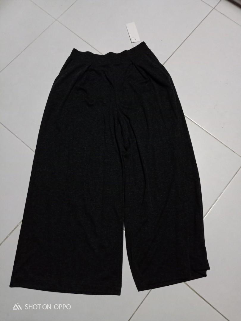 Brand New Uniqlo Women Wide Pants - Dark Grey