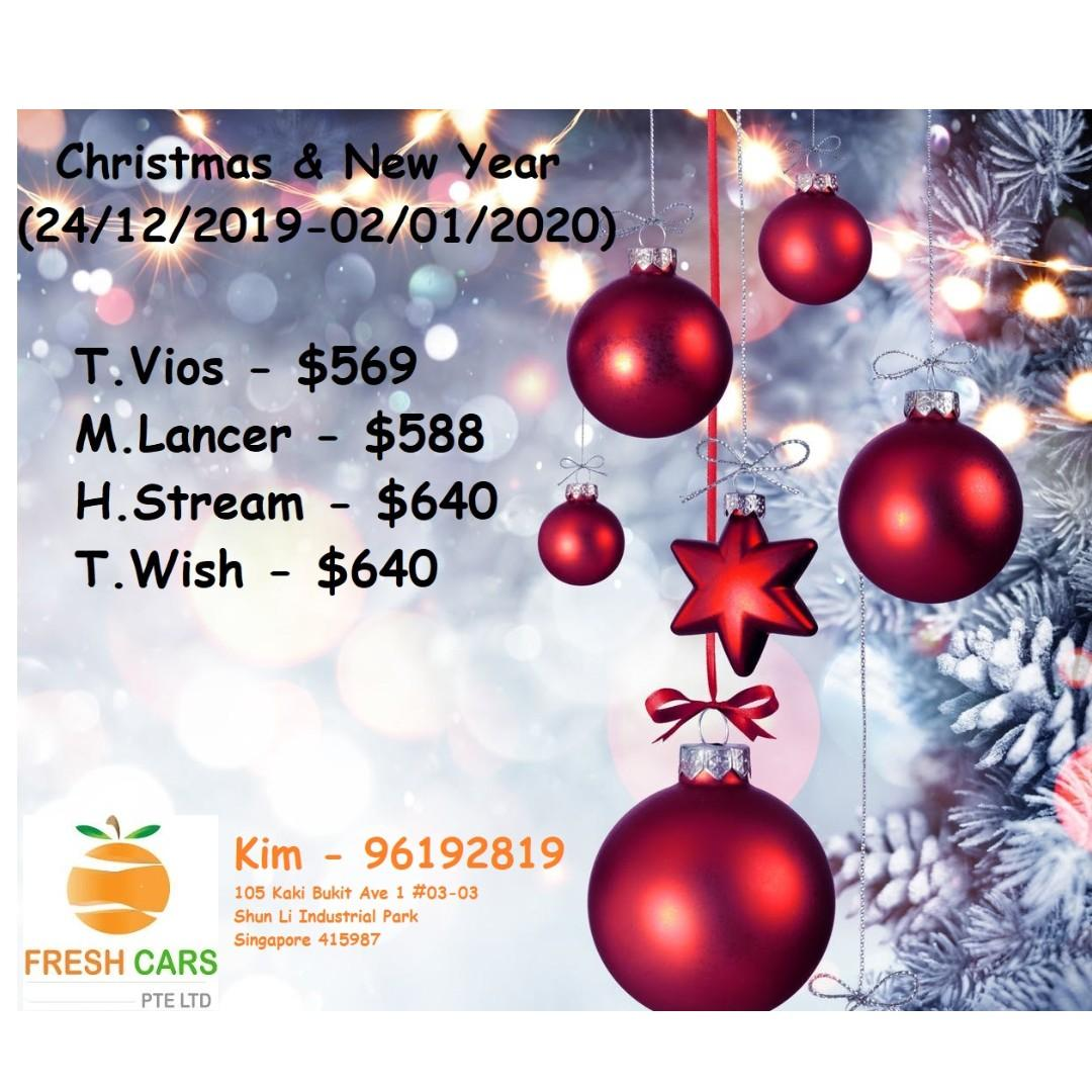 Christmas & New Year Promo - Vios / Lancer / Wish / Stream