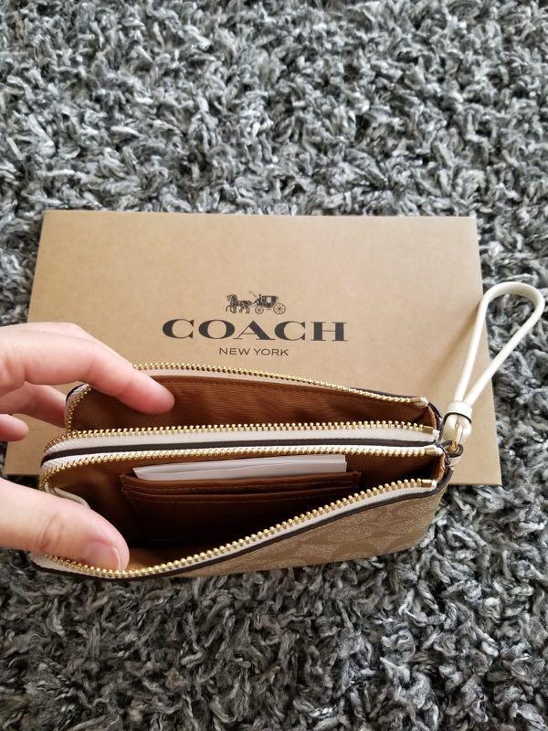 現貨❗️ Coach Wristlet Double Pouch  雙拉鍊卡片散銀袋