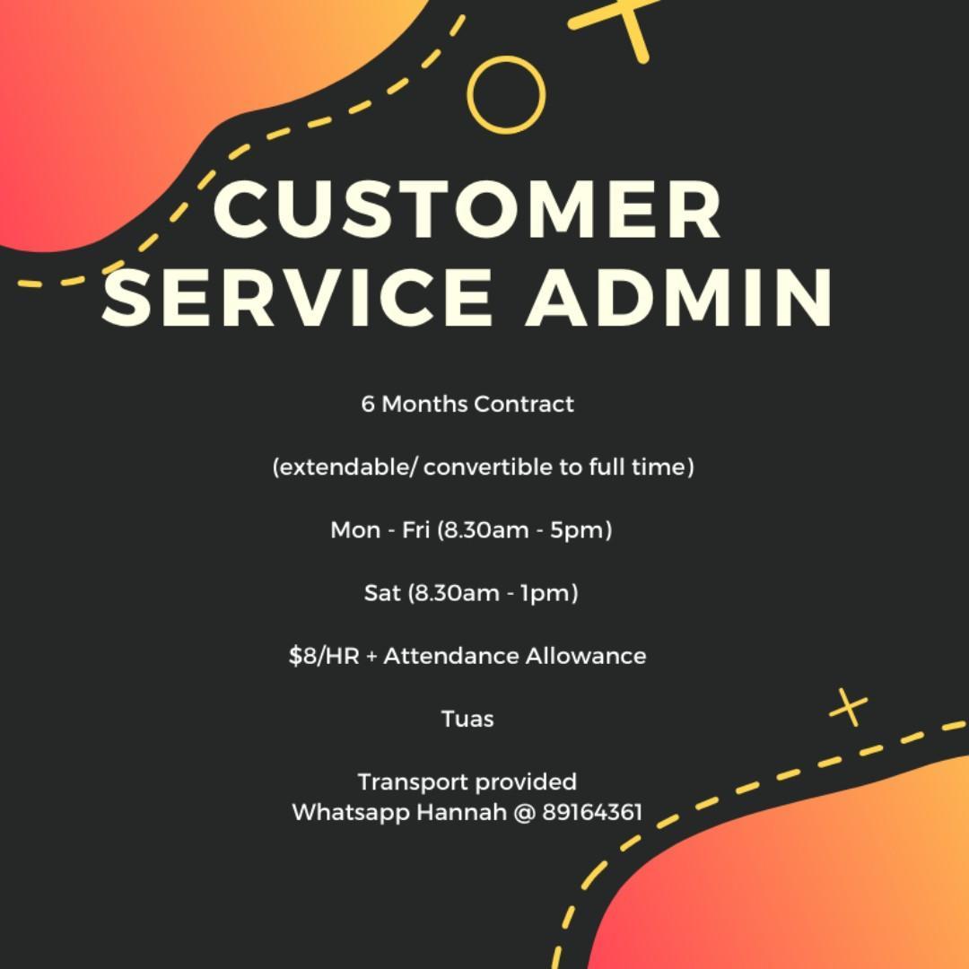 Customer Service Admin @ West