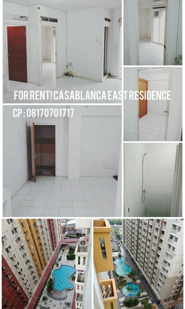 DISEWAKAN 2BR APARTMENT CASABLANCA EAST RESIDENCE