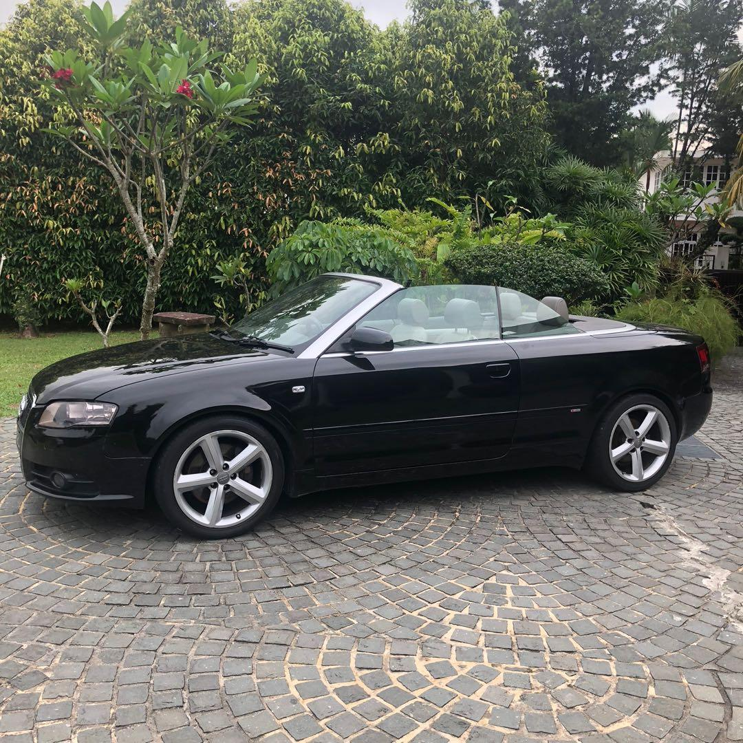 Drive your dream convertible sports car for cheap! Audi A4 cabriolet convertible