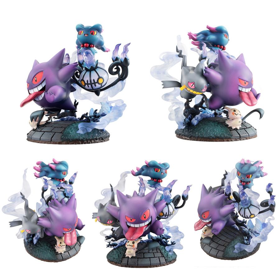G.E.M.EX Series Pokemon Big Gathering of Ghost Types Complete Figures MegaHouse
