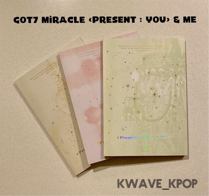 GOT7 MIRACLE IN DECEMBER [Present :YOU] & ME RANDOM VER. ALBUM - SELECT VERSION A /B /C