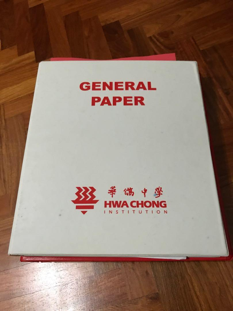 Hwa Chong Institution Lecture Notes/Revision Packages 2017