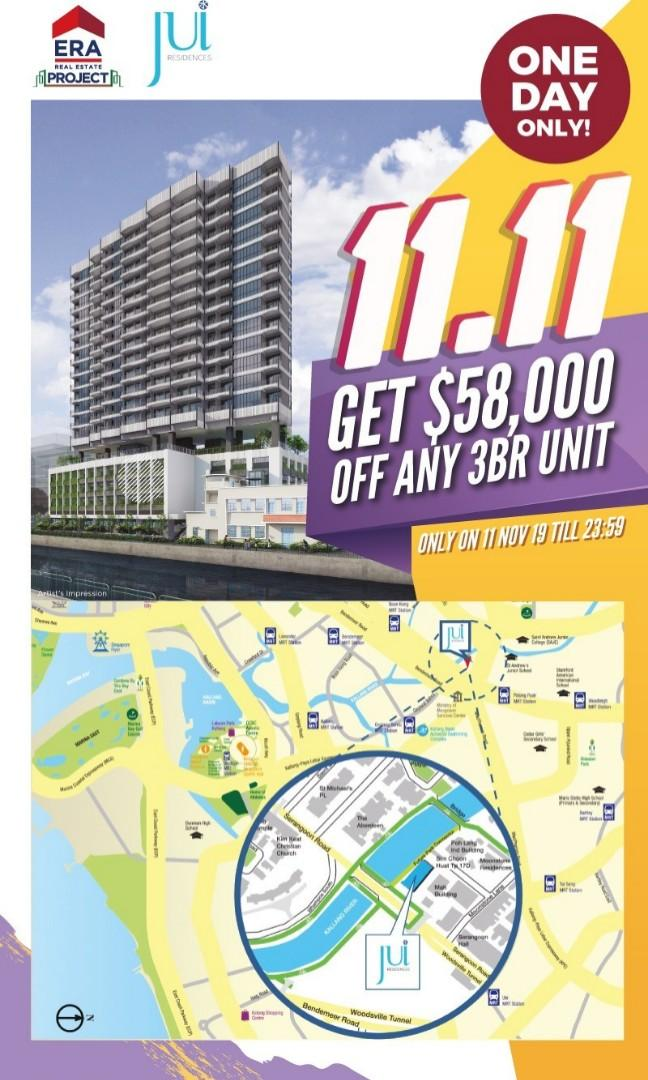 Jui Res  for Sale, Freehold, City-Fringe, Attractive discount