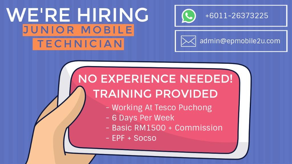 Junior Mobile Technician Wanted, No Experience Needed