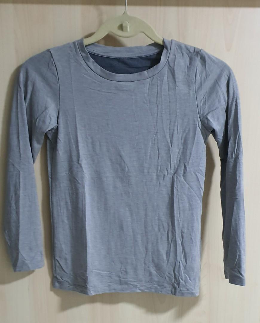 KIDS EXTRA WARM HEATTECH Long Sleeve T-Shirt Inner wear. Size 140
