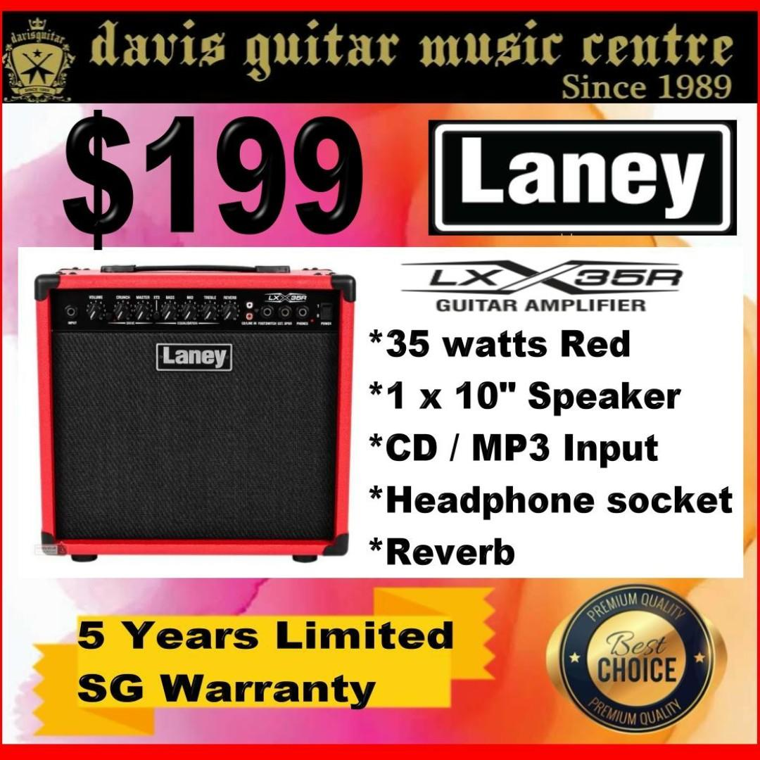 Laney LX35R Electric Amp Red