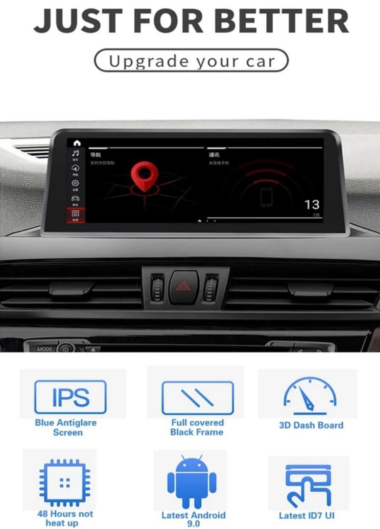 Latest full HD 4+64G android 9.0 8 core car Multimedia car dvd player Audio for BMW X1 F48 2016-2017 NBT System radio gps radio