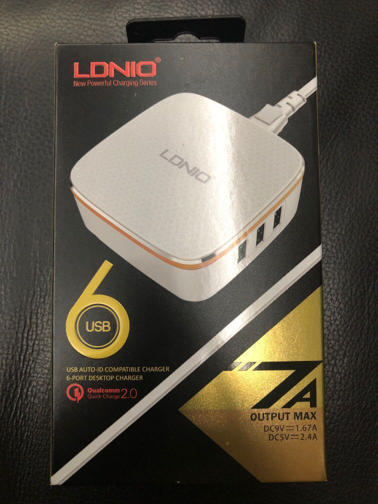 LDNIO 6 port USB charger