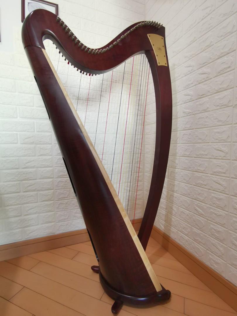 Lyon & Healy harp - Ogden Mahogany 34 strings  (美國Lyon & Healy 34弦豎琴, 使用一年,新淨保養好)