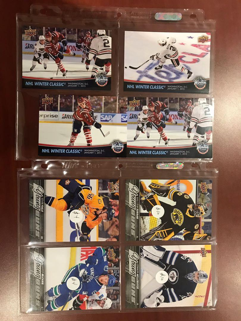 Mint oversized hockey cards: young guns, winter classic, o-pee-chee