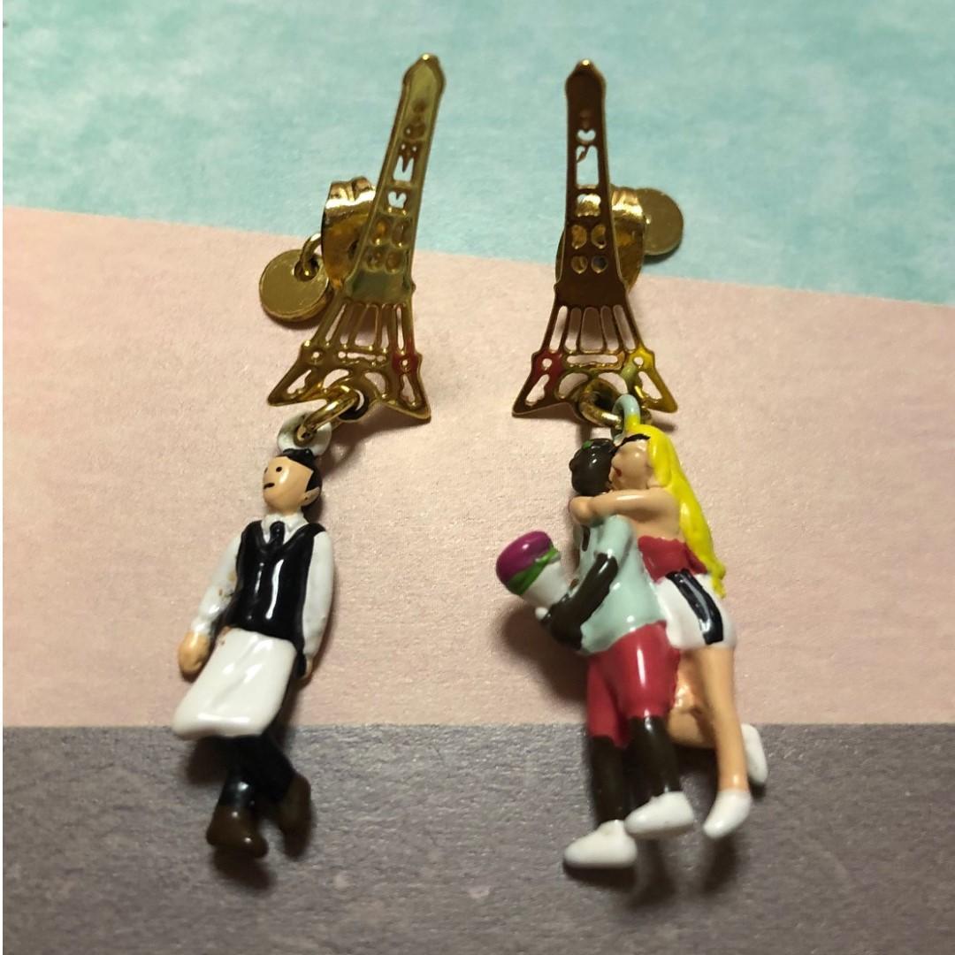 Mushroom Les Nereides N2 Paris 耳環針款