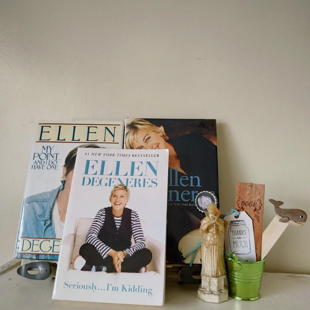 My Point…  And I Do Have One + The Funny Thing Is… + Seriously… I'm Kidding by Ellen DeGeneres (SOLD AS SET)