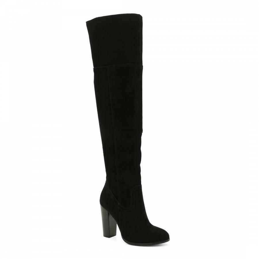 NEW - Suede black over the knee boots - negotiable price
