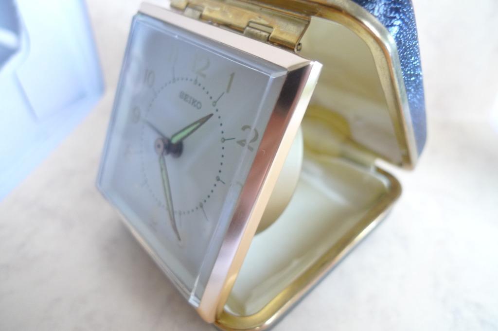 New Old Stock  - Seiko Travel Alarm Clock.....1970's