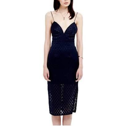 Nicholas The Label Embroidered Spot Bustier Dress - Size 8.